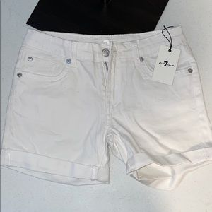 7 For All Mankind Youth shorts size 14 White